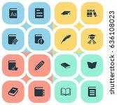 vector illustration set of... | Shutterstock .eps vector #636108023