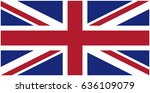 vector image of england flag | Shutterstock .eps vector #636109079