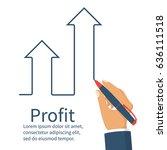 profit concept  growing... | Shutterstock .eps vector #636111518