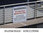 warning us coast guard...   Shutterstock . vector #636113066