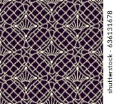 seamless texture of lace fabric ... | Shutterstock .eps vector #636131678