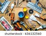 professional builder work with... | Shutterstock . vector #636132560