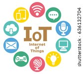 internet of things icon. cloud... | Shutterstock .eps vector #636132704