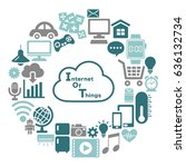 internet of things icon. cloud... | Shutterstock .eps vector #636132734