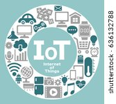 internet of things icon. cloud... | Shutterstock .eps vector #636132788