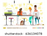 business characters in the... | Shutterstock .eps vector #636134078