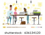 business characters in the... | Shutterstock .eps vector #636134120