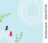 goldfish summer background   Shutterstock .eps vector #636140744