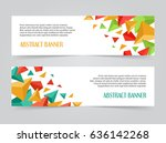 set of triangular banners... | Shutterstock .eps vector #636142268