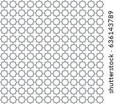 seamless islamic pattern vector ... | Shutterstock .eps vector #636143789