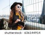 outdoor waist up portrait of... | Shutterstock . vector #636144914