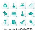 stylized construction and do it ... | Shutterstock .eps vector #636146750