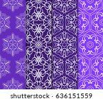 set of decorative line... | Shutterstock .eps vector #636151559