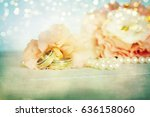 wedding rings | Shutterstock . vector #636158060