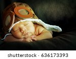 sweet little baby dreaming of... | Shutterstock . vector #636173393