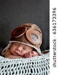 sweet little baby dreaming of... | Shutterstock . vector #636173396