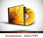cd cover design with 3d... | Shutterstock .eps vector #63617599