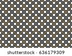 colorful striped horizontal... | Shutterstock . vector #636179309