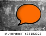 blank speech bubble sign on... | Shutterstock . vector #636183323