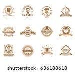 set of vintage gentleman... | Shutterstock . vector #636188618