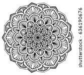 mandalas for coloring book.... | Shutterstock .eps vector #636190676