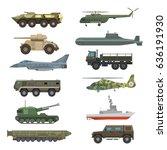 military technic transport... | Shutterstock .eps vector #636191930
