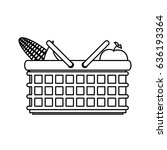 picnic delicious food | Shutterstock .eps vector #636193364