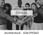 teamwork performance group... | Shutterstock . vector #636194363