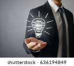 hands of business person... | Shutterstock . vector #636194849