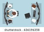 flat icon design of business... | Shutterstock .eps vector #636196358