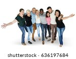diversity men and women group... | Shutterstock . vector #636197684