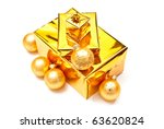 yellow gifts boxes with... | Shutterstock . vector #63620824