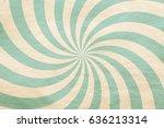 old retro sun rays pattern on... | Shutterstock . vector #636213314