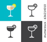 daiquiri cocktail   Shutterstock .eps vector #636214010