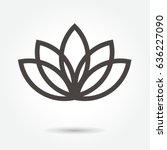 Lotus Flower Icon Vector On...