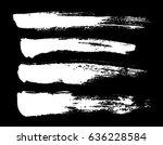brush strokes isolated. ink... | Shutterstock .eps vector #636228584