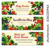 berries vector banners set for...   Shutterstock .eps vector #636230963