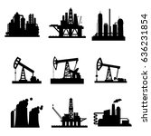 oil derricks and gas extraction ... | Shutterstock .eps vector #636231854