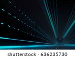 futuristic abstract line with... | Shutterstock . vector #636235730