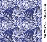 seamless tropical flower  plant ... | Shutterstock . vector #636238160