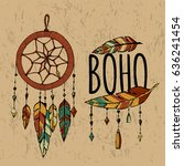 hand drawn tribal collection... | Shutterstock .eps vector #636241454