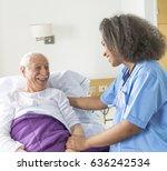 reassuring confident african... | Shutterstock . vector #636242534