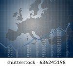 european finance and economy | Shutterstock .eps vector #636245198