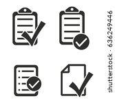 checklist vector icons set....   Shutterstock .eps vector #636249446