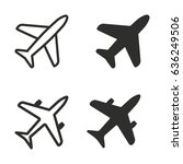 airplane vector icons set.... | Shutterstock .eps vector #636249506