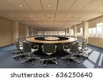 modern conference room and... | Shutterstock . vector #636250640