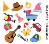 toys vector   Shutterstock .eps vector #636261908