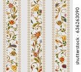 seamless pattern in ethnic... | Shutterstock .eps vector #636263090