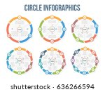 circle infographic templates... | Shutterstock .eps vector #636266594