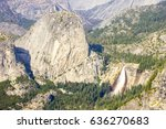 views of yosemite valley from... | Shutterstock . vector #636270683